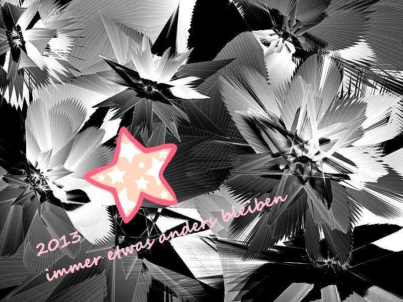 2013 Rosa Stern im grauen Eis