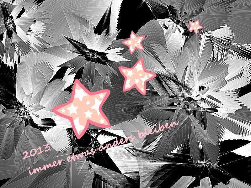2013 Rosa Sterne im grauen Eis