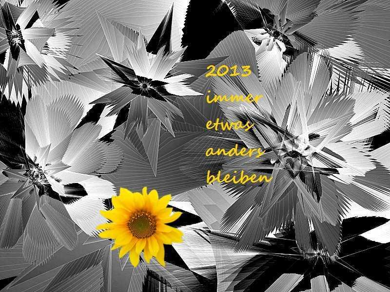2013 Sonnenblume im Eis