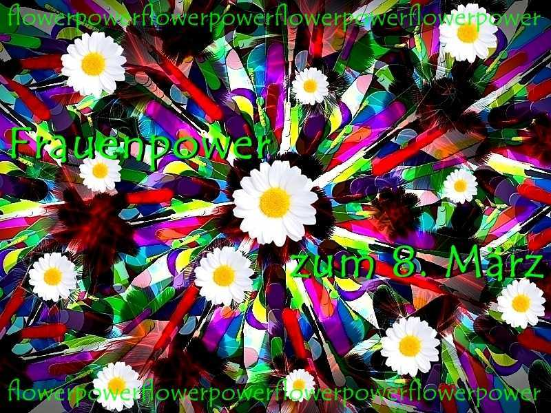 Frauentagsgrüße 3 Oha Blütenstrauß b b Margeriten