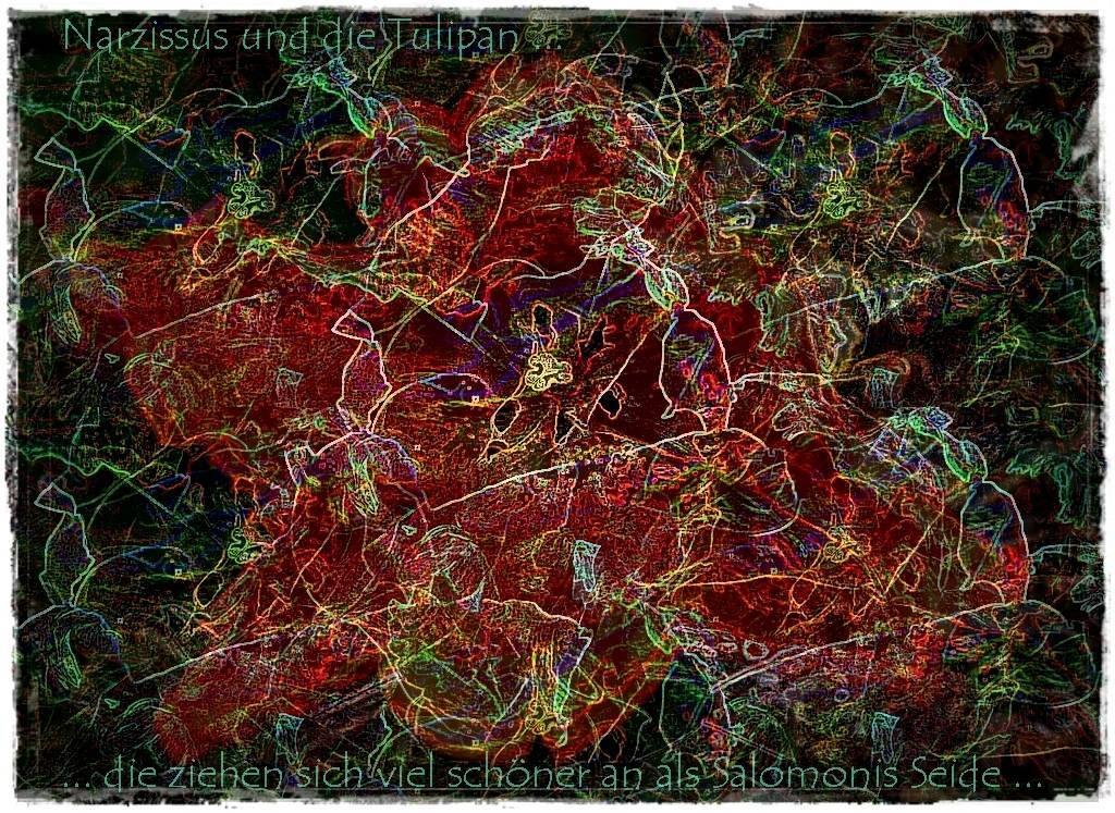 Gruß April 12 019 Aquarell 3 b Grafik 2 dunkel