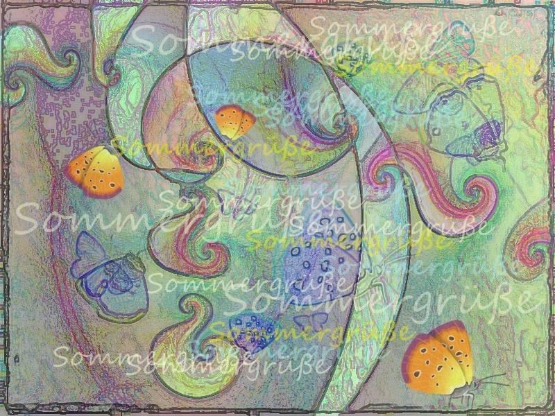 Gruß Schmetterlingssommer 03 b 3 c Grafik 2 b