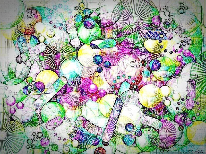 Seidenblasen 7 Grafik