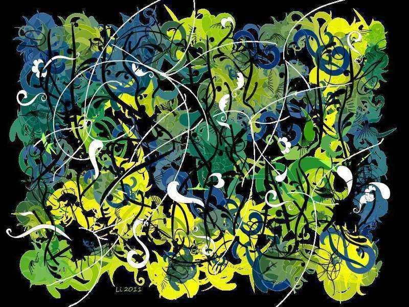 Arabeske Blaugrüngelb grafisch