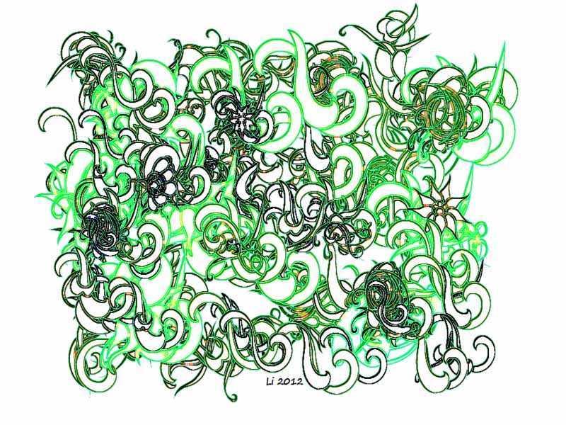 Arabeske Grün Grafik