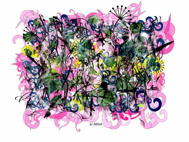 Arabeske Pinkgrün 6