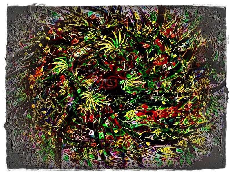 Blätterfall a Grafik dunkel 2