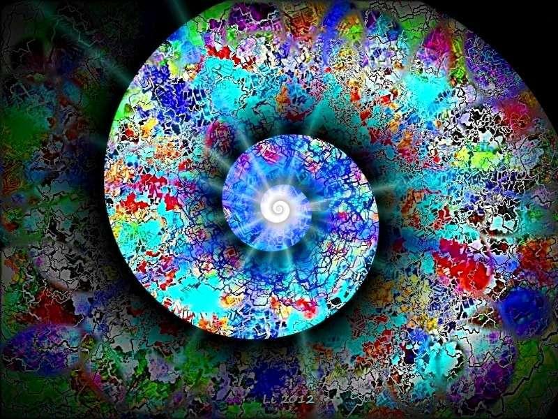 Blauer Planet Silberspirale 2