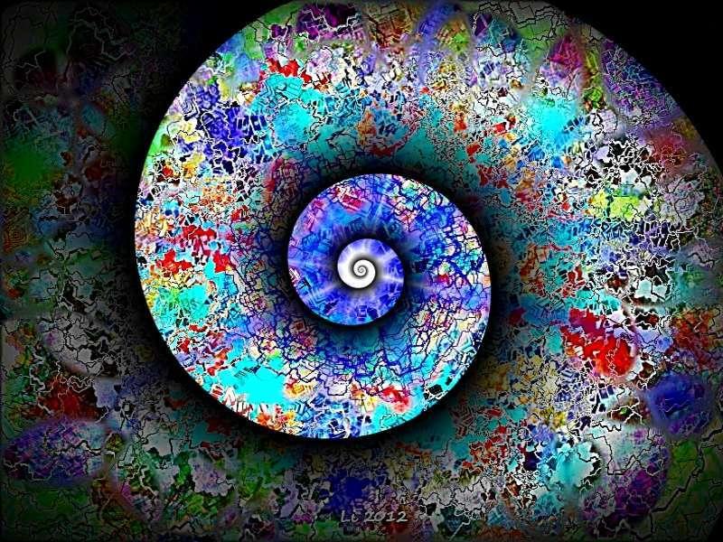Blauer Planet Silberspirale