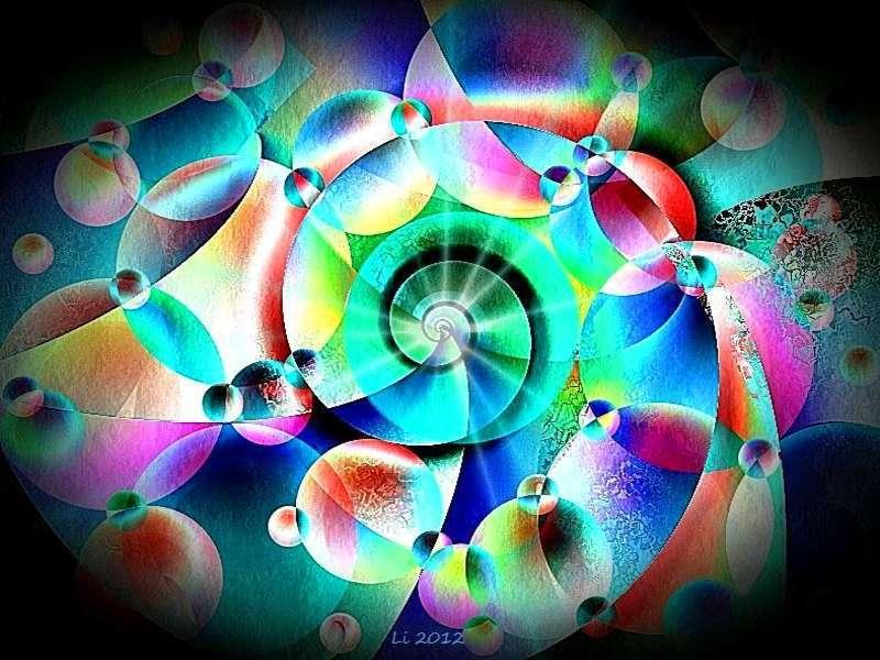 Blauer Spiralnebel 11