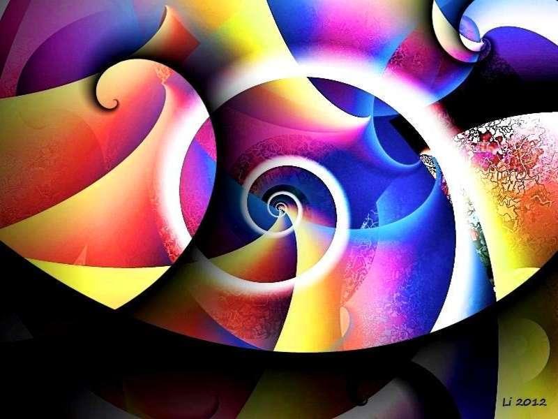 Blauer Spiralnebel 5