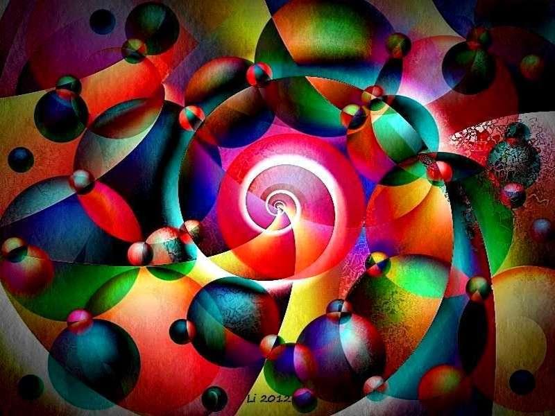 Blauer Spiralnebel 7
