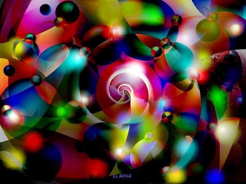 Blauer Spiralnebel 9