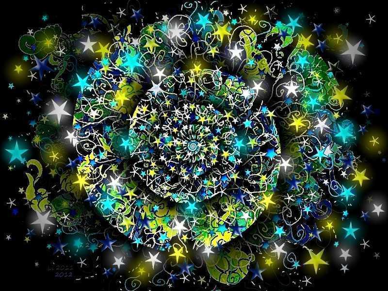 Blue Star Spirale 1