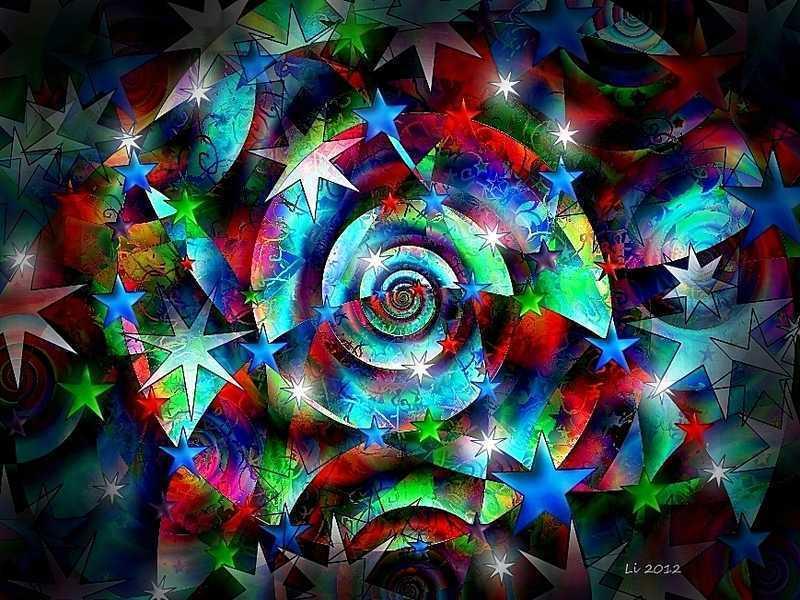 Blue Star Spirale 8
