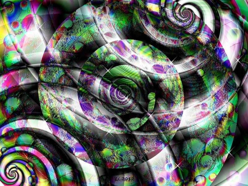 Blue Star Spirale Pastellrelief 12 neu