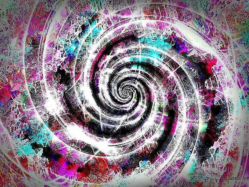 Blue Star Spirale Pastellrelief 16 neu