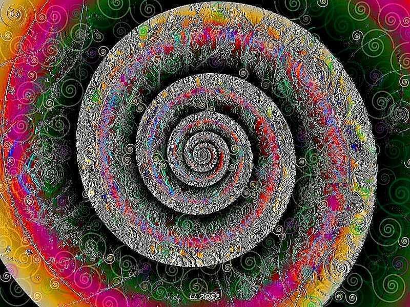 Blue Star Spirale Pastellrelief 3
