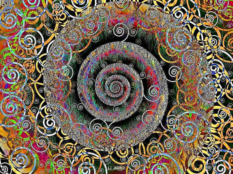 Blue Star Spirale Pastellrelief 4