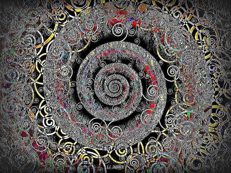Blue Star Spirale Pastellrelief 5 2