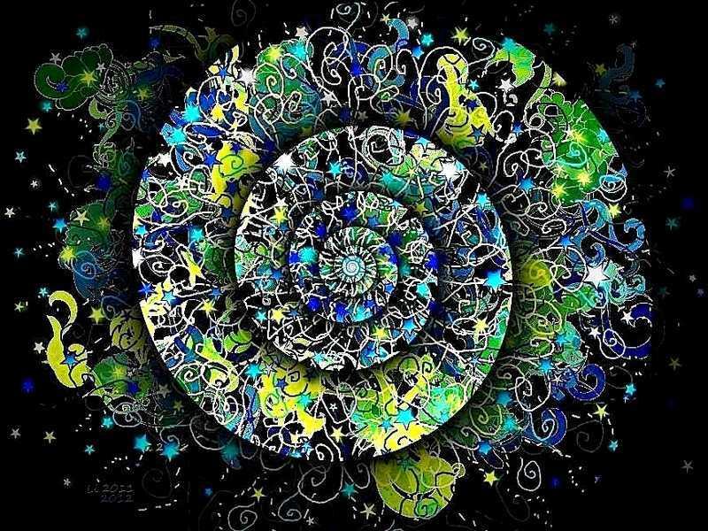 Blue Star Spirale
