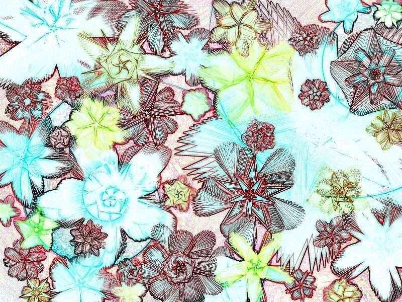 Federblütenwirbel 2 a Grafik