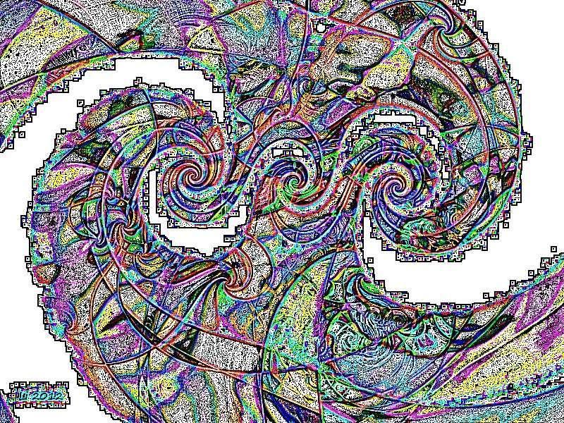Flora oriental 48 Grafik dunkel Grafik
