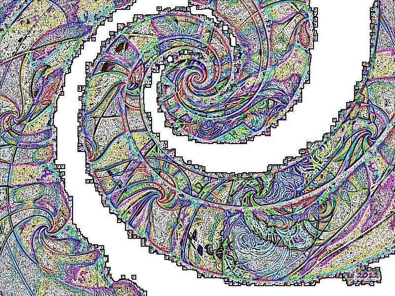 Flora oriental 50 Grafik dunkel Grafik