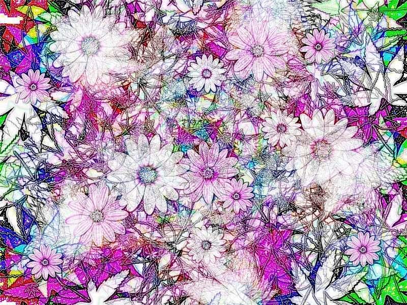 Frühling 1 a Blüten Grafik