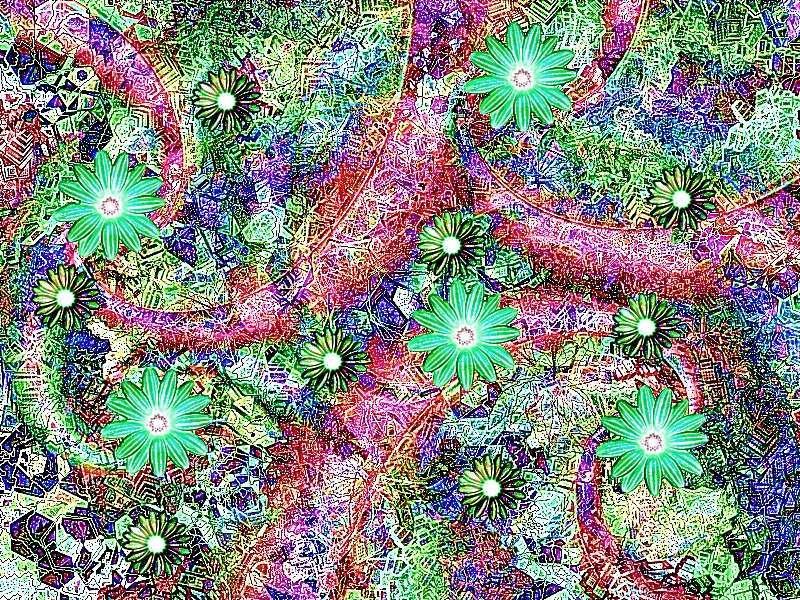 Frühling 5 a Grafik Blüten a Grafik