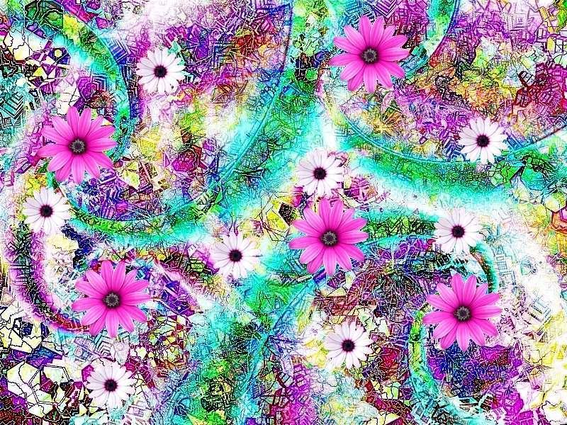 Frühling 5 a Grafik Blüten