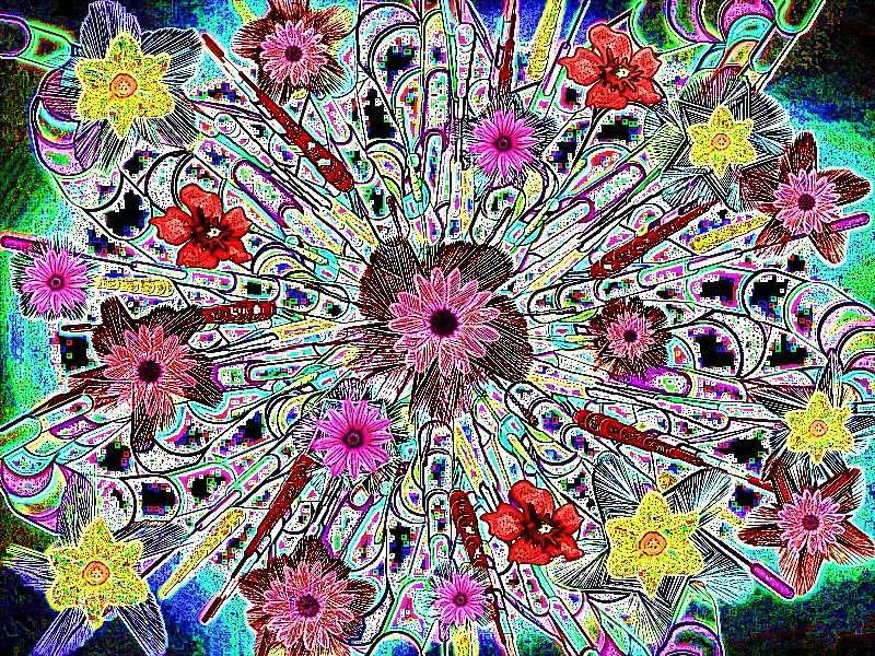 Oha Blütenstrauß Grafik Blüten a Grafik a