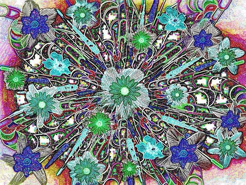 Oha Blütenstrauß Grafik Blüten a Grafik