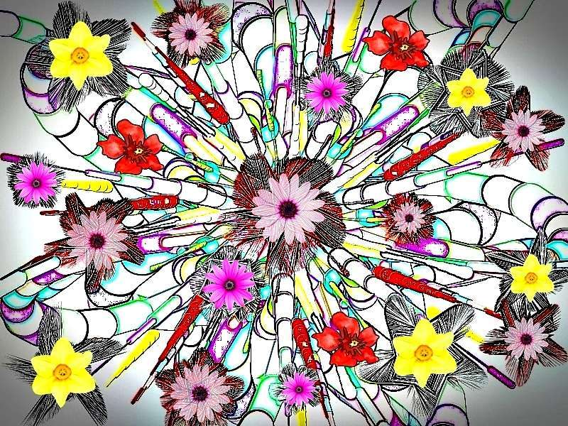 Oha Blütenstrauß Grafik Blüten