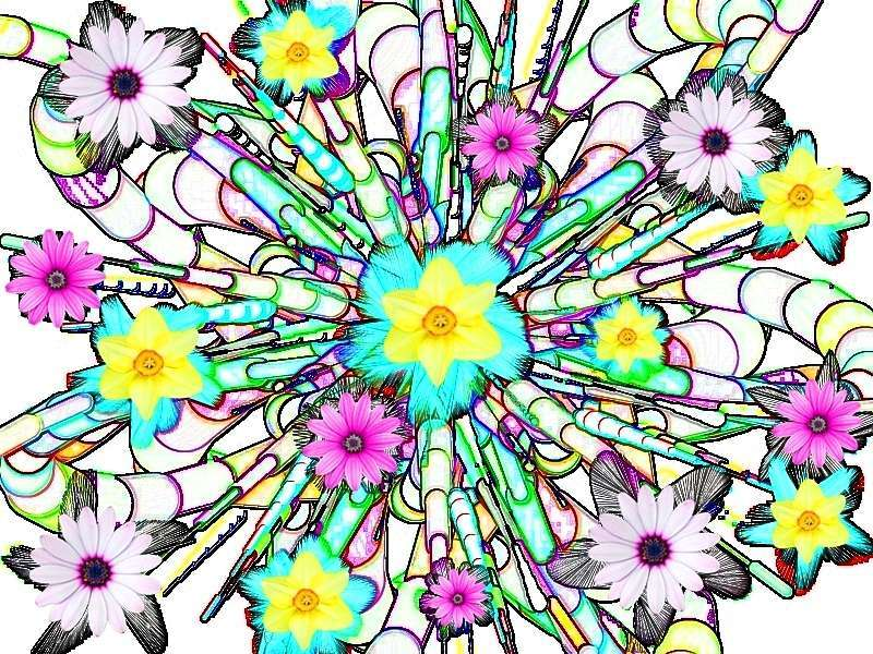 Oha Blütenstrauß a Grafik Gerbera