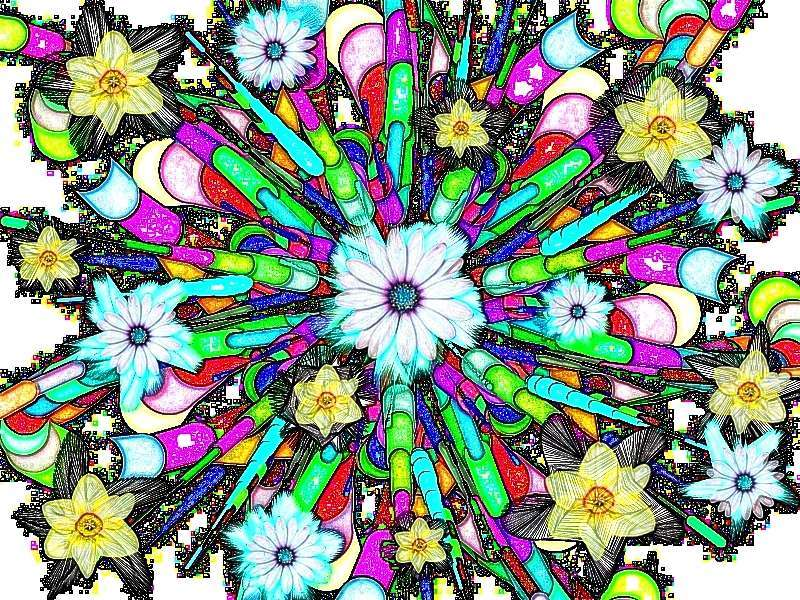Oha Blütenstrauß a Narzissen Grafik