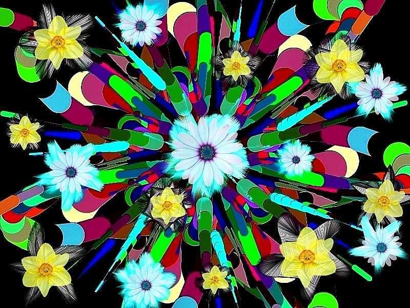 Oha Blütenstrauß a Narzissen