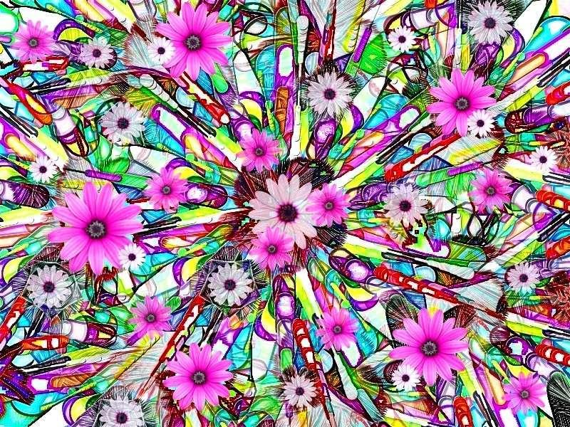 Oha Blütenstrauß b b Grafik Margeriten