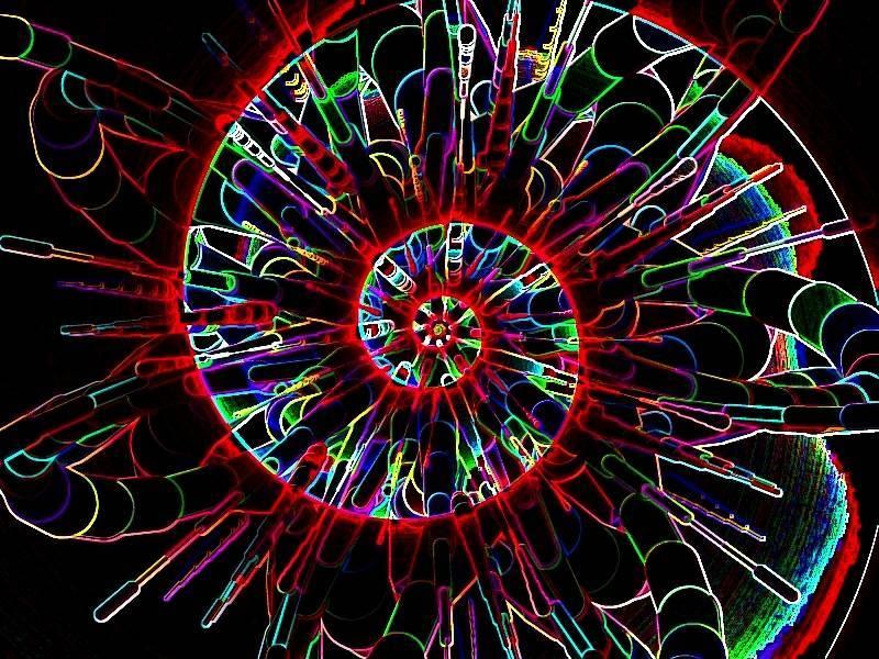 Oha Spirale rot a Grafik dunkel
